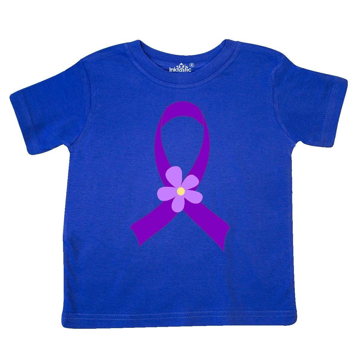 inktastic Purple Alzheimers Ribbon Daisy Toddler T-Shirt