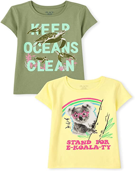 The Children's Place Girls' Shirts, Pack of Two