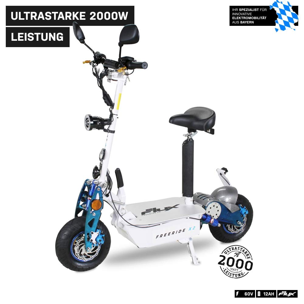 Scooter eléctrico original E-Flux Freeride X2, 2000 W, 60 V ...