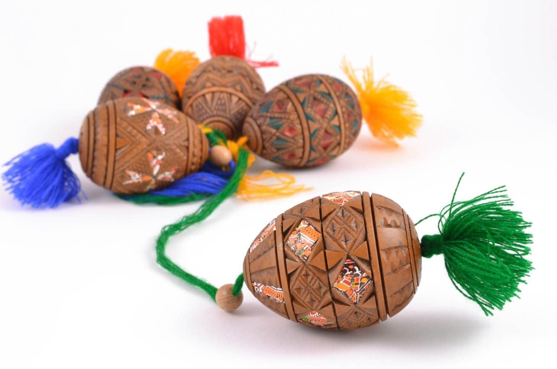Easter Egg Handmade Decorative Egg Easter Decor Wooden Eggs Easter Gift Ideas Amazon Co Uk Kitchen Home