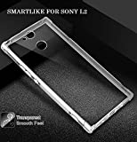 SmartLike EXLUSIVE Silicon Transparent with Anti Dust Plugs Shockproof Slim Back Cover Case for Sony Xperia L2 Dual