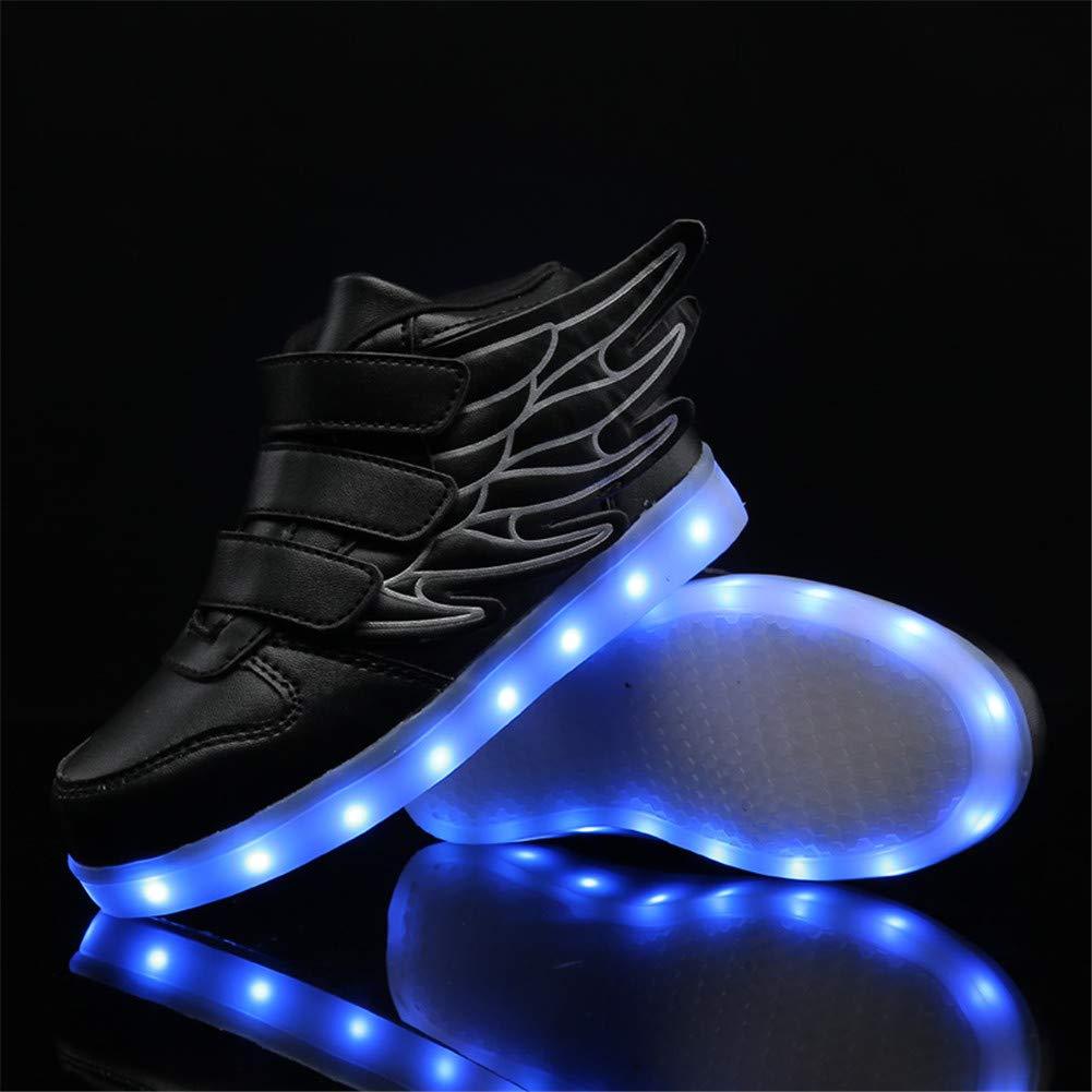 Ali-tone Unisex Enfants Gar/çon Fille LED Lumineuse Chaussures Securit/é Mode 7 Couleurs Clignotants USB Rechargeable Mutilsport Shoes Sneaker Anniversaire Halloween No/ël Cadeau