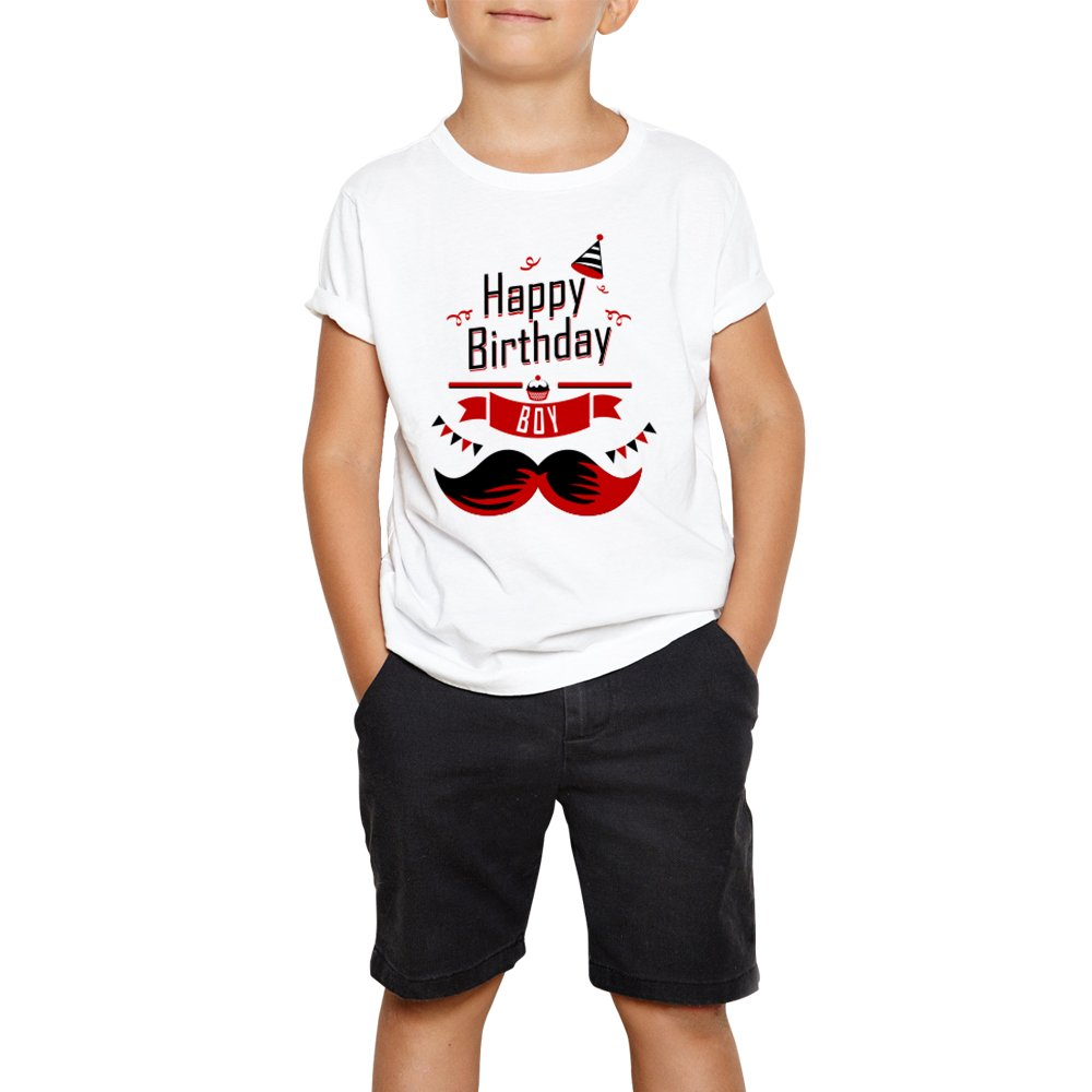 3603b0f2 Buy DreamBag Limit Fashion Store Happy Birth Day Boy Printed T-Shirt for  Kids (Boys & Girls) Online at Low Prices in India - Amazon.in