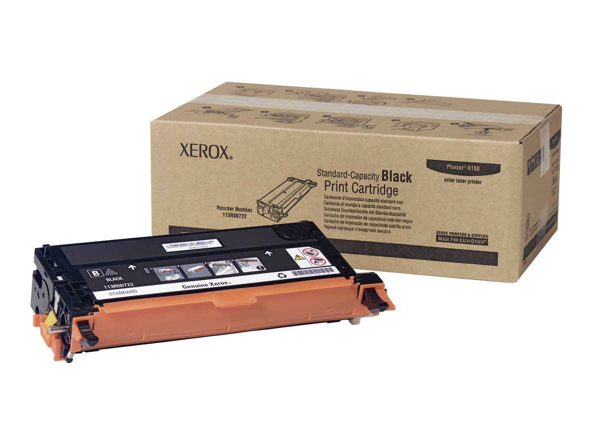 Xerox 113R00722 Phaser 6180 Black Standard Capacity Print Cartridge