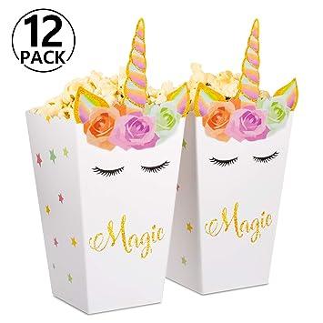 Yosemy 12 Piezas Suministros de Halloween,Fiesta de Arcoiris Caja de Palomitas de Maíz Caramelo Caja de Papel de Comida Bocadillo,para Cumpleaños ...