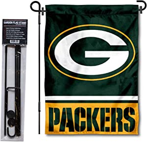 WinCraft Green Bay Packers Garden Flag with Stand Holder