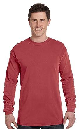 8d51f98bd Comfort Colors 6.1 oz. Ringspun Garment-Dyed Long-Sleeve T-Shirt: Amazon.co. uk: Clothing