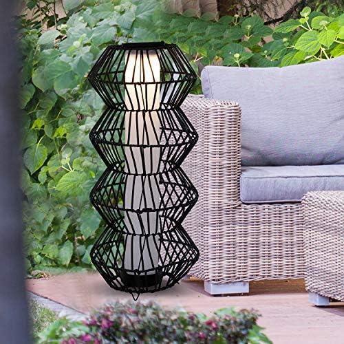 Outsunny LED Solarleuchte, Rattan Stehleuchte, Gartenlampe