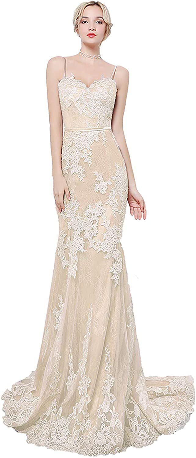 Special Bridal Women's Dress Lace Mermaid Evening Dresses Simple Homecoming Prom Sexy Party Gown