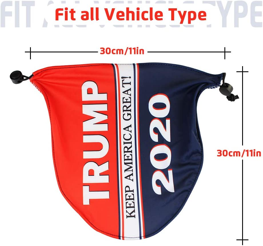 BIACK Trump /2020 car rearview mirror accessoriesp Keep America Great/Premium Quality/Mirror Protect Cover/Fits Cars SUV Truck Van with/2 pack