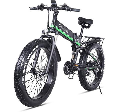 26 pulgadas neumático gordo Bicicleta eléctrica 1000W 48V Nieve E ...