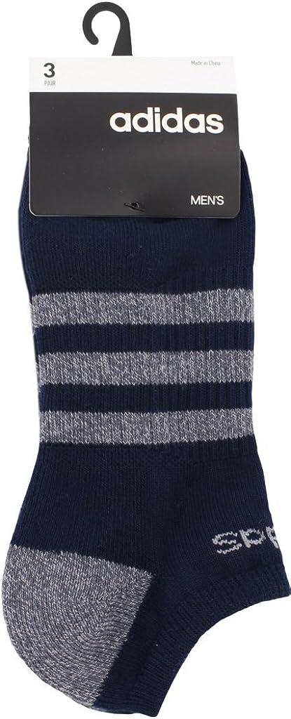 3 Pairs adidas Mens 3-Stripe No Show Socks