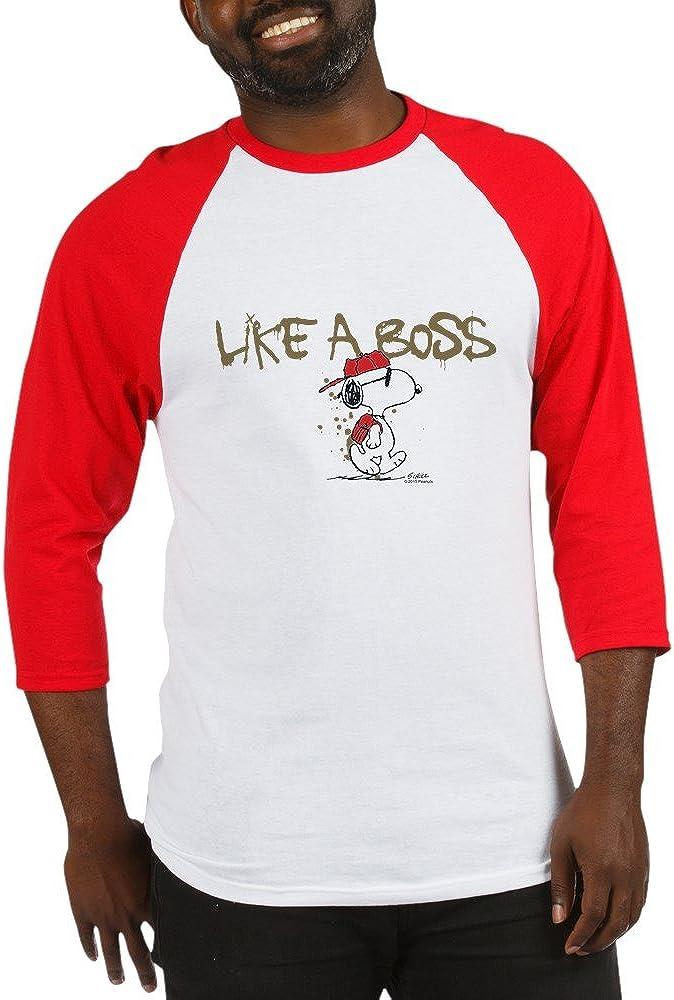 CafePress Peanuts Snoopy Like A Boss Baseball Baseball Shirt