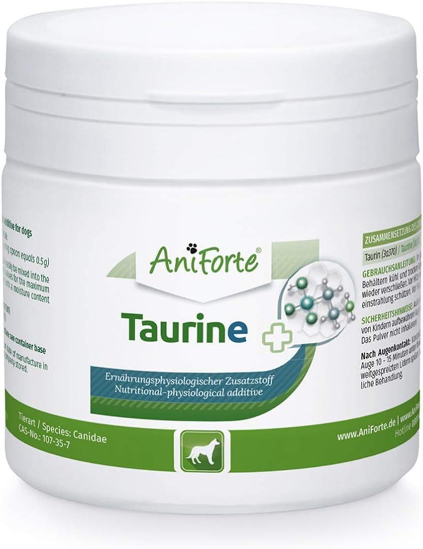 AniForte Taurina para Perros 100g - 100% taurina Pura, aminoácido Esencial. Ayuda al Sistema inmunológico y el metabolismo Celular. Ayuda a la función del corazón y el Sistema Cardiovascular
