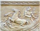 Anceint Greek Wall Relief Poseidon