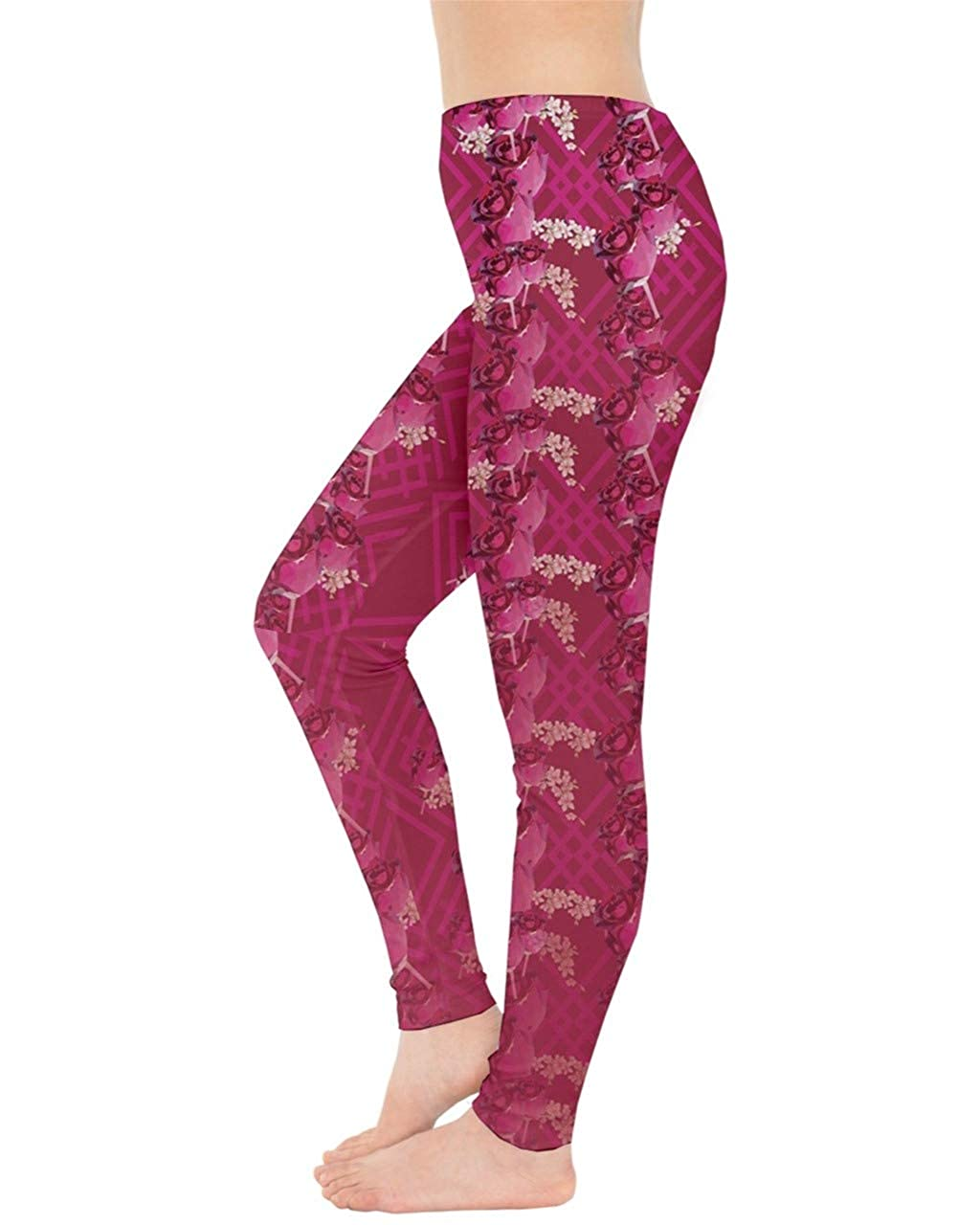 XS-5XL CowCow Womes Stretchy Tights Red Happy Valentines Day Heart Love Couple Sweet Leggings
