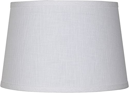 Upgradelights 16 Inch Tapered Drum Table Lampshade 13x16x10.5 White Linen