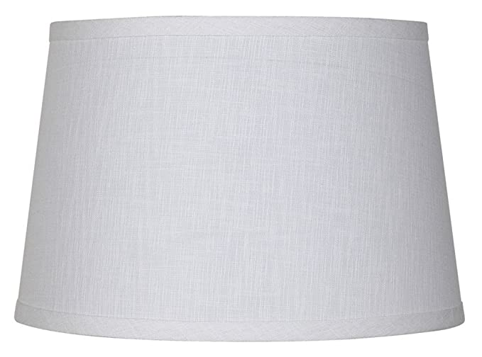Upgradelights 16 Inch Tapered Drum Table Lampshade 13x16x10.5 (White Linen)