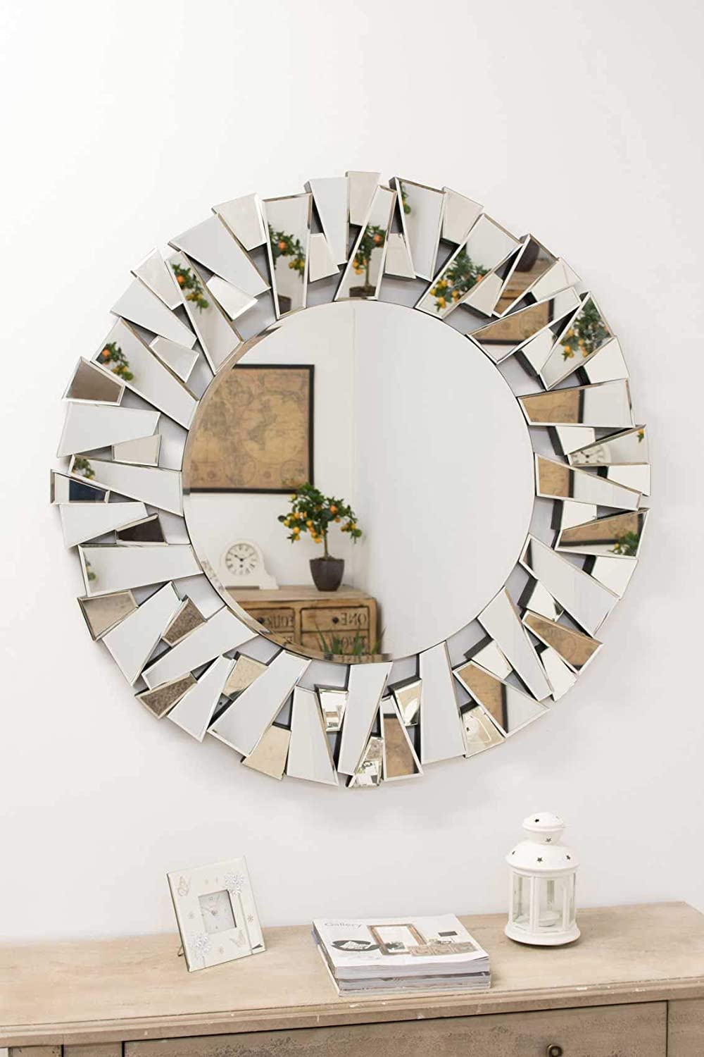 Buy Alfa Design Decorative Contemporary Round Wall Mirror Plain Mirror For Bathroom Home Decorative Wall Mirror Wood Core Backing 12mm Mirror Size 30 X 30 Inch Online At Low Prices In