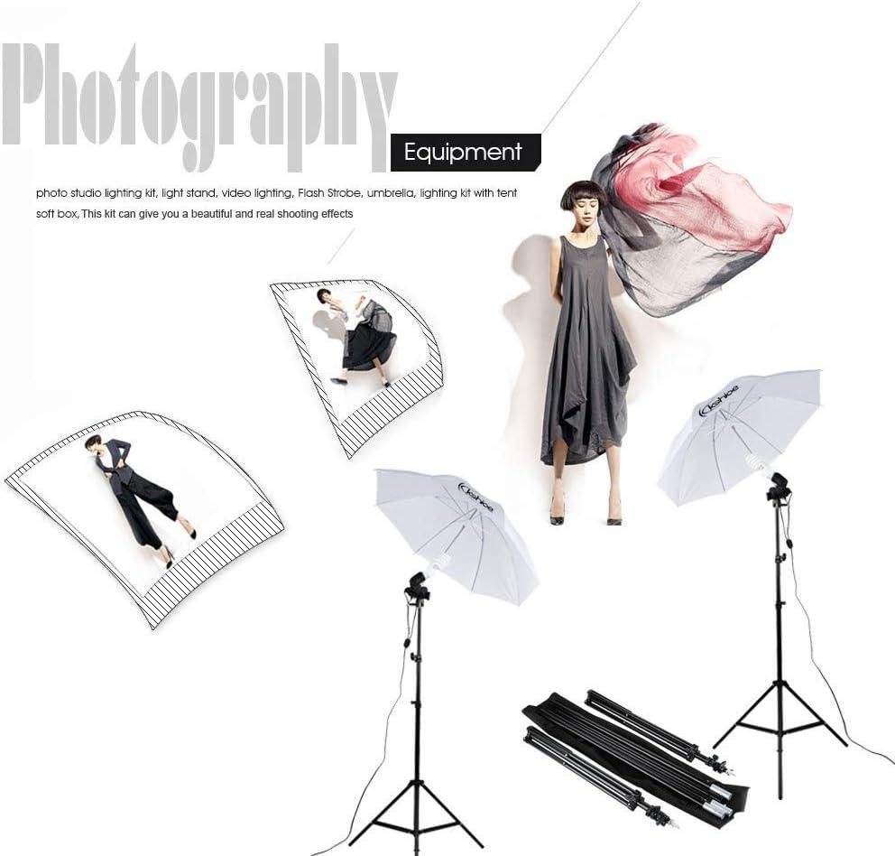 Xiaolizi 135W Silver Black Umbrellas with Background Stand Non-Woven Fabrice Set US Black /& White /& Green
