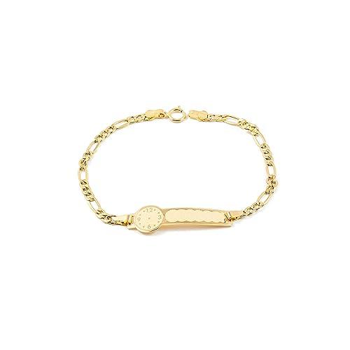 10129539384f Pulsera Bebe oro Amarillo chapa reloj: Amazon.es: Joyería