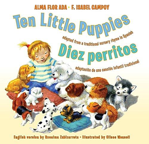 Amazoncom Ten Little Puppiesdiez Perritos Bilingual Spanish