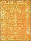 Unique Loom Sofia Collection Orange 9 x 12 Area Rug