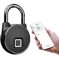 Waterdichte Bluetooth Smart Hangslot, Keyless Vingerafdruk Lock Anti-Diefstal Veiligheid Hangslot voor Deurtas Lade…