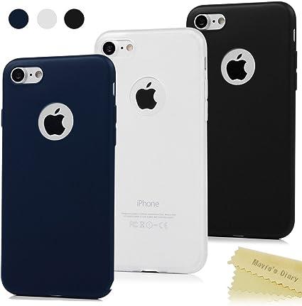 Maviss Diary 3X Funda iPhone 7 Carcasa Silicona Gel Mate Case ...