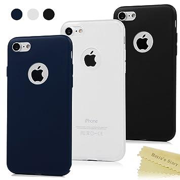 Maviss Diary 3X Funda iPhone 7 Carcasa Silicona Gel Mate Case Ultra Delgado TPU Goma Flexible Cover Protectora para iPhone 7 - Transparente ...