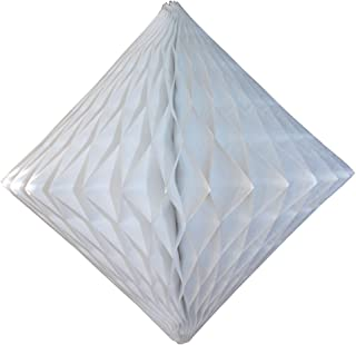 product image for 3-Pack 12 Inch White Honeycomb Diamond Decoration