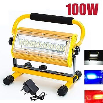 JZWDMD 100W LED Iluminación para Exteriores Lámpara de luz de ...