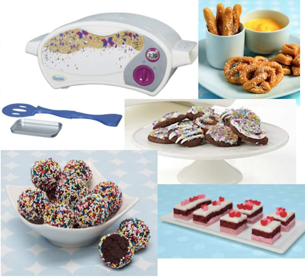 Easy Bake Ultimate Oven Toy Baking Star Series with 3 Extra Refill Packs, Including Sparkle Cakes, Red Velvet Cakes, Pretzels and Chocolate Truffles