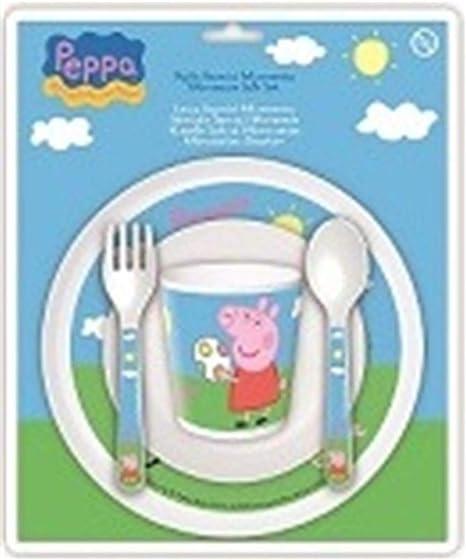 Peppa Pig 760012425/85256 - Set Vajilla Para Microondas Baby 5 ...
