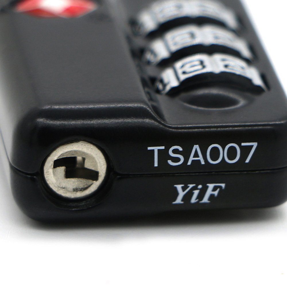 TSA Luggage Locks (4Pack) -Combination Padlocks - Approved Travel Lock for Suitcases & Baggage by Zhovee (Image #4)