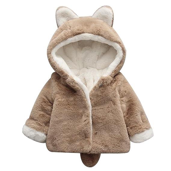 d975b27e5 asiproper Winter Baby Kids Girls Cute Bunny Fleece Coat Warm Infant ...