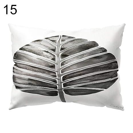 quanjucheer - Funda de cojín para sofá, diseño de Hojas ...