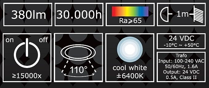 XQ-Lite XQ-lite Ranex LED Floodlight/Charging / IP44