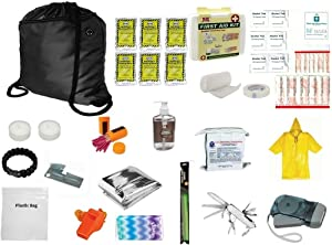 3 Day Emergency Backpack Survival Kit Food Water Blanket Whistle Flashlight 1st Aid 72 Hr