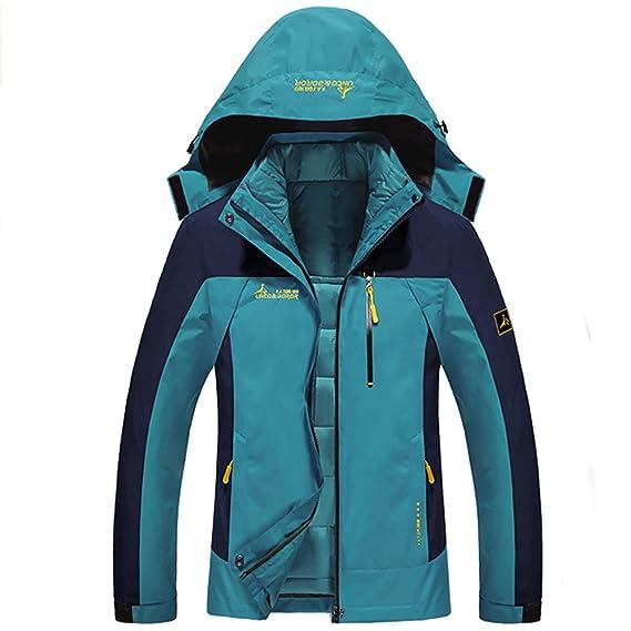Chaqueta Softshell Hombre Mujer Chaquetas 3 en 1 Montaña de Invierno Abrigo Impermeable Chaqueta de Acampada y Senderismo: Amazon.es: Ropa y accesorios