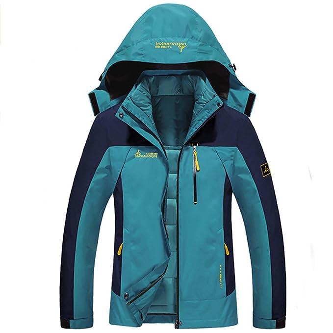 e3d999c8a Chaqueta Softshell Hombre Mujer Chaquetas 3 en 1 Montaña de Invierno Abrigo  Impermeable Chaqueta de Acampada