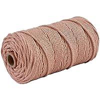 3 rollos de cuerda de macramé de algodón