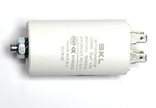 6.3UF 450VAC 5/% CBB60 CONTINUOUS DUTY MOTOR RUN FASTON CAPACITOR