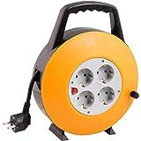 Enrouleur de câble de 10/15/25/50m Noir Câble d'alimentation électrique intérieur Rallonge