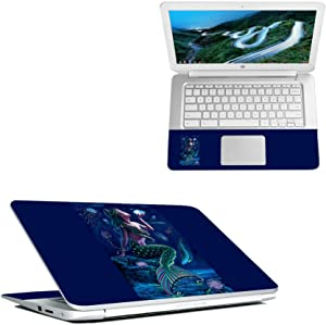 """MightySkins Skin Compatible with HP Chromebook 14"""" (2018) - Luminous Mermaid   Protective, Durable, and Unique Vinyl Decal wrap Cover   Easy to Apply, Remove, and Change Styles   Made in The USA"""