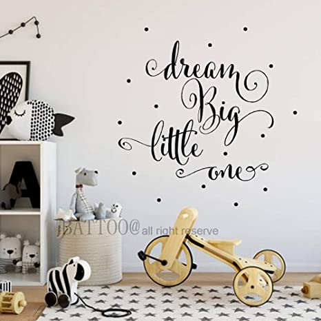Amazon.com: BATTOO Dream Big Wall Decal Quote Wall Sticker ...