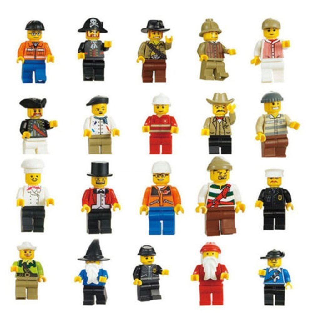 ArRord 20 Pcs Family and Community Minifigures People Building Blocks Toy Compatible with Lego Amazing Innovation