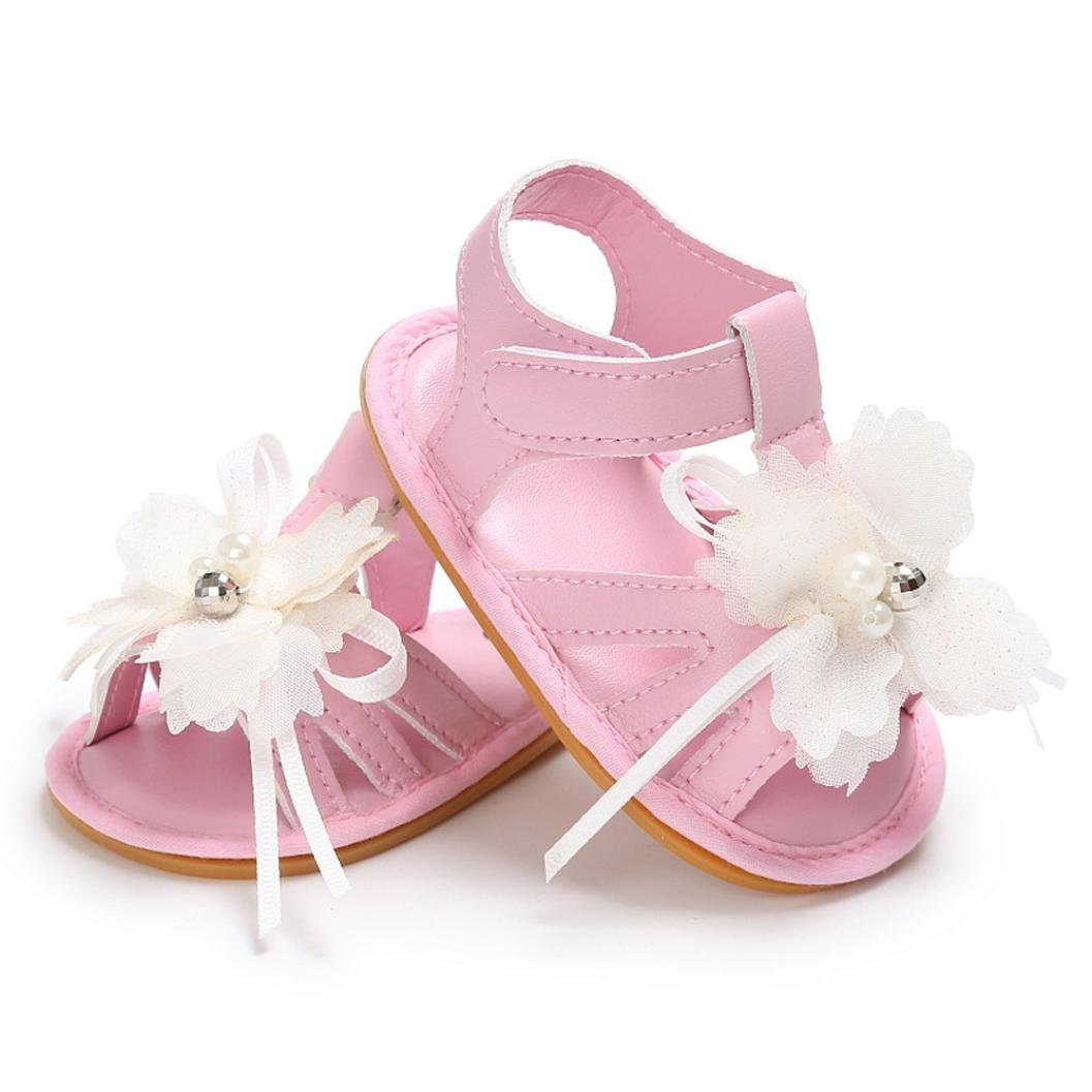 Voberry Baby Girls Flower Sandals Toddler Anti-slip Leather Sneakers Shoes