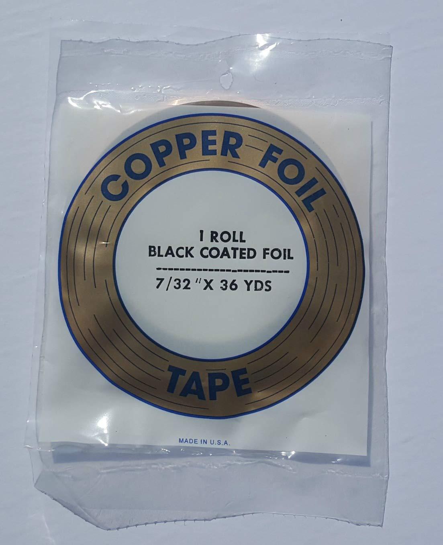 Edco 7/32 Black Back Copper Foil - 36 Yards - 1.25 mil