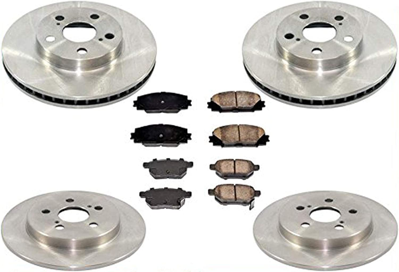 2012 2013 For Toyota Prius V Rear Disc Brake Rotors and Ceramic Pads
